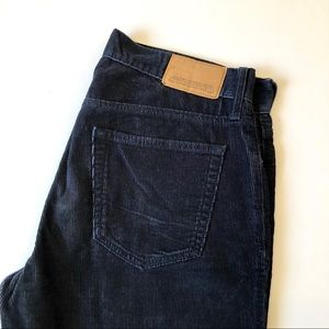 Old Navy dark navy straight corduroy pants 34x32
